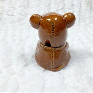 Vintage Kitchen - VTG Houston Foods mini teddy bear honey pot